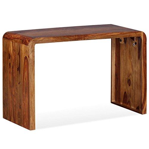 festnight holz sideboard schreibtisch aus massives sheesham holz als tv st nder beistelltisch. Black Bedroom Furniture Sets. Home Design Ideas