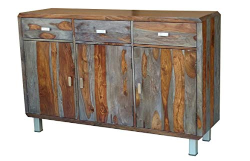 Main Möbel Sideboard 140x90cm Nevada Sheesham lackiert/grau