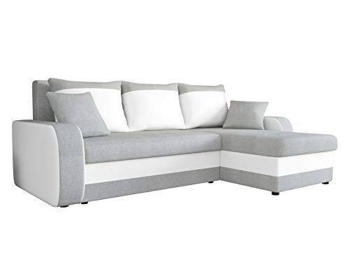 Mirjan24 ecksofa kristofer lux eckcouch couch mit for Wohnlandschaft schlaffunktion bettkasten
