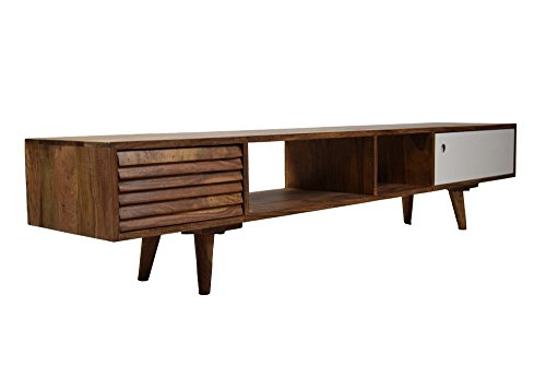 Vintagehaus Sideboard Retro Oslo TV Board Sheesham Massivholz 180