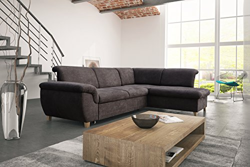 mb moebel ecksofa eckcouch mit bettkasten sofa couch l form polsterecke andria skandinavische. Black Bedroom Furniture Sets. Home Design Ideas
