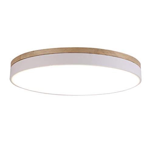 LED Rund Dimmbar Deckenleuchte Modern Minimalismus Holz Stil Deckenlampe  Kreativ Wohnzimmer Schlafzimmer...