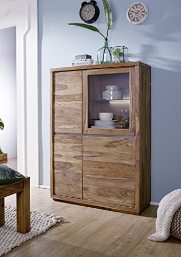 Main Möbel Highboard 103cm Panama Sheesham massiv