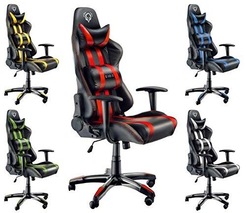 Diablo X-One Bürostuhl, Gaming Chair, Drehstuhl mit Armlehnen, Chefsessel, Gaming Stuhl, Schalensitz, Sportsitz mit Bezug aus Kunstleder