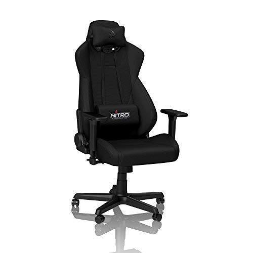 NITRO CONCEPTS S300 Gamingstuhl - Bürostuhl - Schreibtischstuhl - Atmungsaktiver Stoffbezug