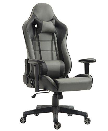 Tiigo Schreibtischstuhl Gaming Stuhl Kunstleder Chefsessel Computer Spiel Stuhl Bürostuhl