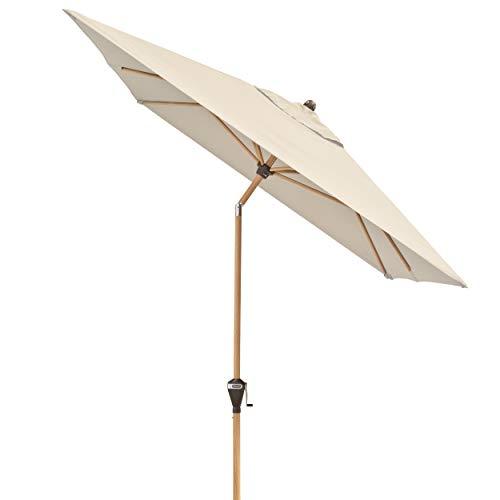 Doppler Alu Wood - Rechteckiger Sonnenschirm für Balkon und Terrasse - Edle Holzoptik