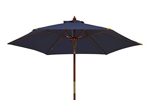 Kai Wiechmann®, robuster Sonnenschirm ø 240 cm/Sonnendach/Gartenschirm/Schirm/Gartenmöbel/Marktschirm