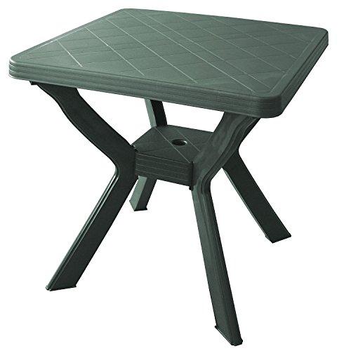 Wohaga Gartentisch Campingtisch Beistelltisch Balkontisch 70x70cm Kunststoff Grün