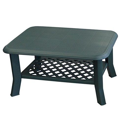 Wohaga Gartentisch NISO 90x60xH47cm Vollkunststoff/Grün - Campingtisch Beistelltisch Loungetisch Couchtisch