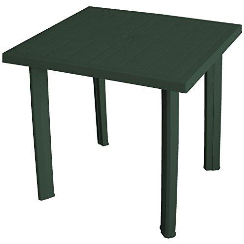 Wohaga Pflegeleichter Gartentisch 80x75x72cm Kunststofftisch Campingtisch Balkontisch Gartenmöbel - Dunkelgrün