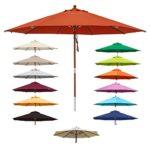 anndora® Sonnenschirm Gartenschirm 3,5 m rund - UV Schutz + Winddach - Farbwahl