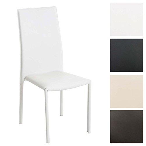 CLP Stapelstuhl Laurus mit hochwertiger Polsterung und Kunstlederbezug I Küchenstuhl mit Einer Sitzhöhe von: 47 cm I erhältlich