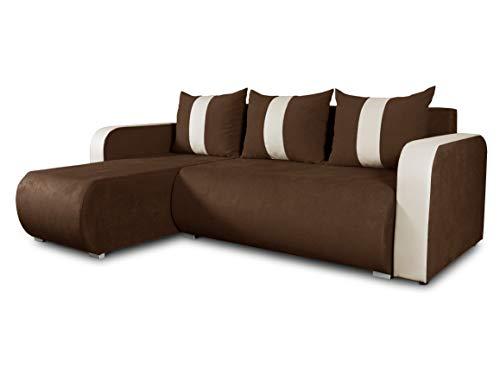 Ecksofa Rino mit Schlaffunktion und Bettkasten - L-Form Couch, Polsterecke, Couchgarnitur, Eckcouch, Ecke, Sofa, Sofagarnitur - Ottomane Universal