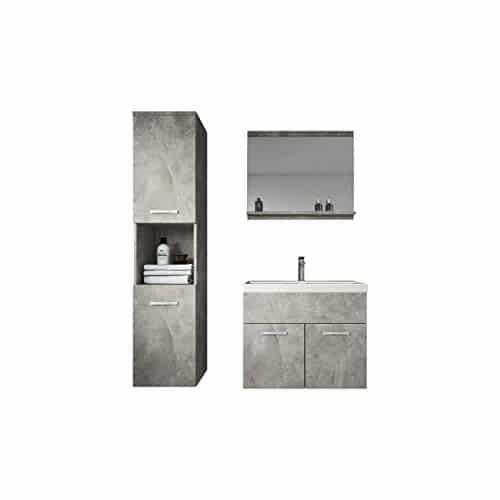 Badezimmer Badmöbel Montreal 60cm Waschbecken - Unterschrank Waschtisch Spiegel Möbel