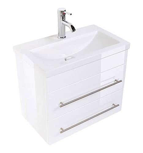 emotion Badmöbel Mars 80 in mit einem Waschbecken mit besonders schmaler Tiefe (Slimline)